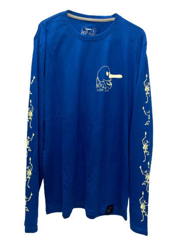 B.O.N.E.S. LONG SLEEVE TEE - BLUE