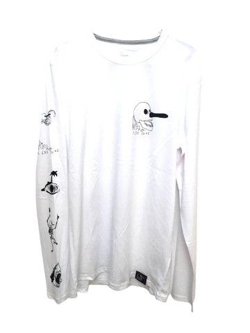 M.U.L.T.I.L.O.G.O. LONG SLEEVE TEE - WHITE