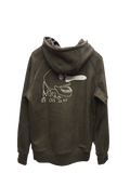 CLASSIC LOGO SUEDE HOODIE - OLIVE