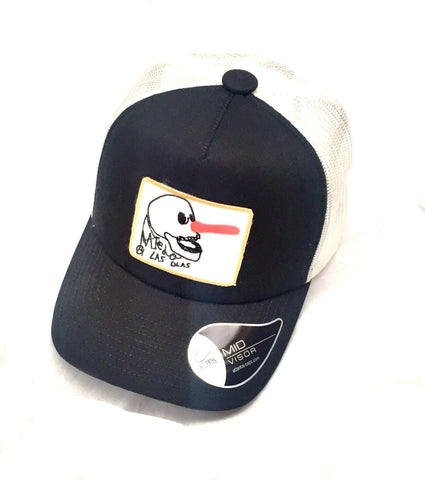 RINCON TRUCKER CAP -  BLACK AND WHITE