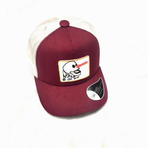 RINCON TRUCKER CAP -  BURGUNDY  AND WHITE