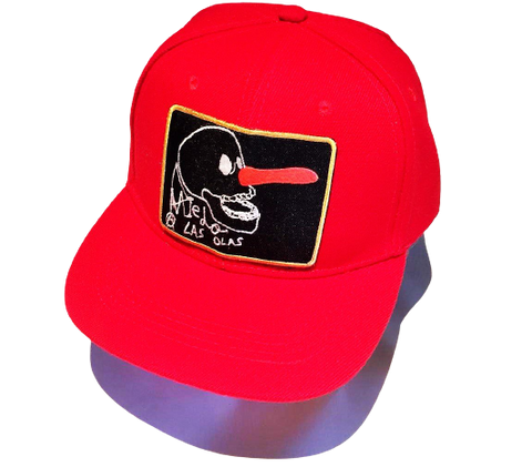 6 PANELS JAWS KIDS CAP RED-BLACK
