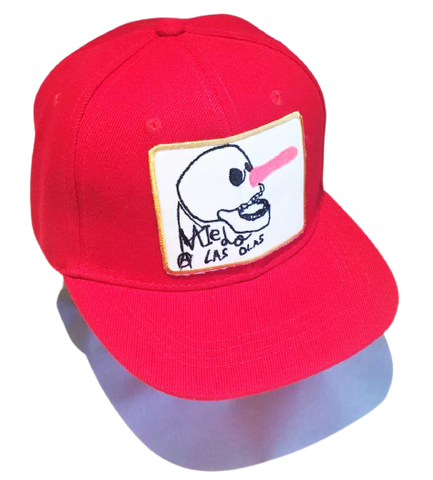 6 PANELS JAWS KIDS CAP - RED-WHITE