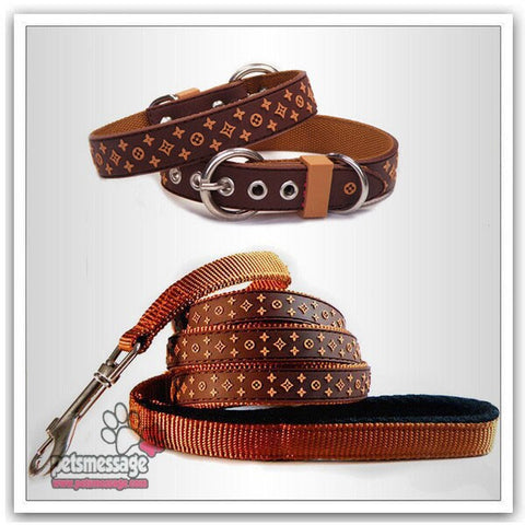LW Luxury Dog Collar and Leash