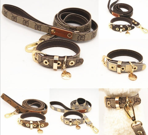 Luxury Dog Collar and Leash Set