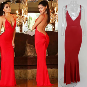RED WITH PASSION LOW BACK DRESS