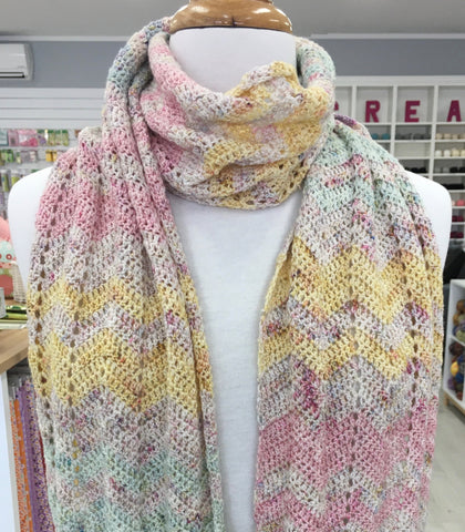 Saltwater Yarns Summer Stripe Scarf Kit