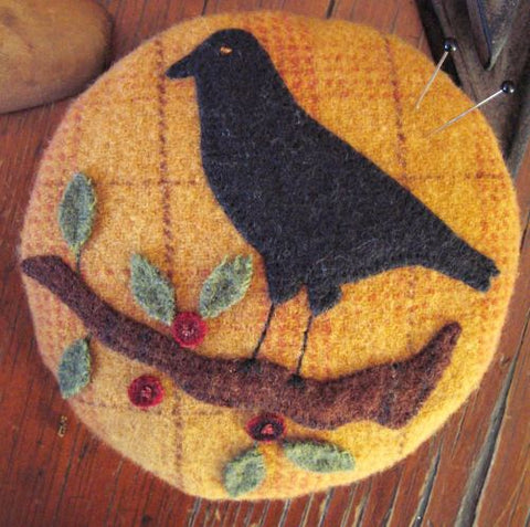 For The Crows Pincushion Applique Kit