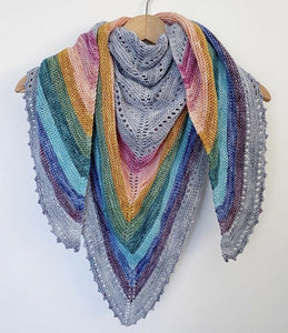 Rainbow Coast Shawl Pattern