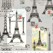 Couturiere Parisienne Eiffel Tower Gray
