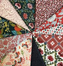 Liberty Summer House Fat Quarter 11pc Bundle Red