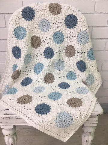 Bonnie Blue Crochet Blanket Kit