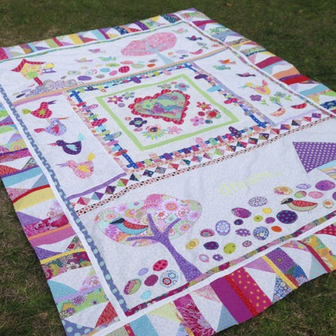 Hot Possum Spring Dreaming Single Bed Quilt Pattern