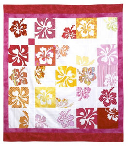 Hot Possum Hippy Biscus Lap Quilt Pattern