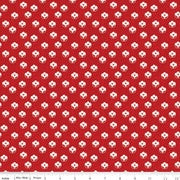 Couturiere Parisienne Point De Fleur Dot Red