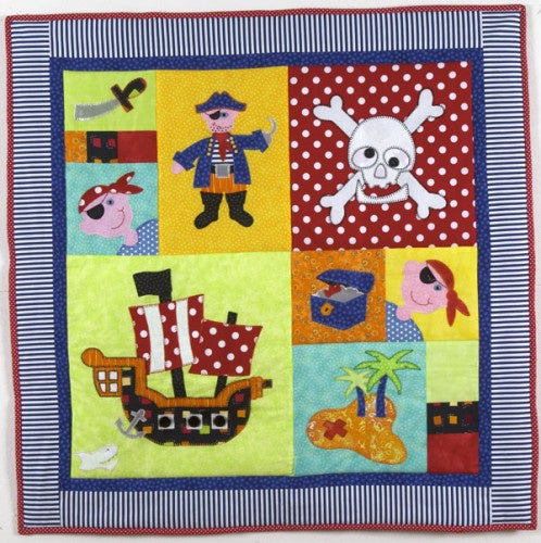 Hot Possum Pirate Party Cot Quilt Pattern