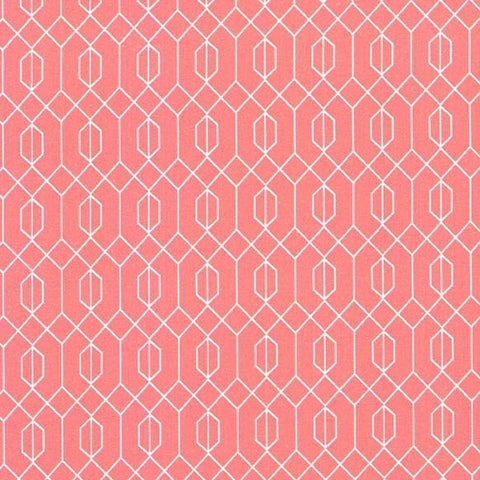Elderberry Geo Fabric Coral