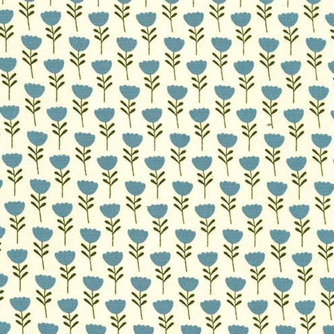 Critter Tails Tulip Trail Fabric Teal