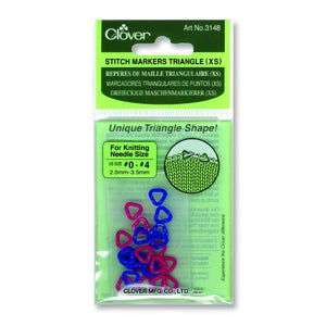Clover Stitch Markers Triangle XS