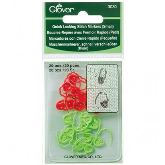 Clover Quick Locking Stitch Marker Set