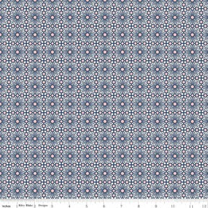 Sweet Stems Lattice Dark Blue