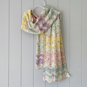 Saltwater Yarns Summer Stripe Scarf Pattern