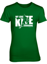 Load image into Gallery viewer, We Love Kiteboarding Short Sleeve T-Shirt (Woman's) - COVID-19 Special Edition
