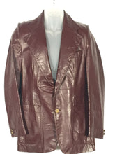 Vintage Men's Pierre Cardin Burgundy Short Leather Jacket