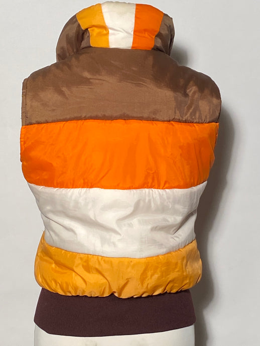 1970s Aspen Burnt Orange Cream Vest Size Junior Medium
