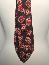 Vintage 1940s Men's Circular Patterned Silk Tie