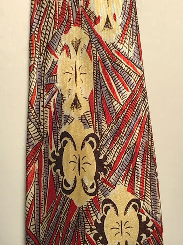 1950s Men's Silk Geometric Patterned  4