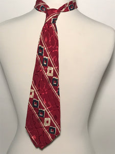 Vintage 1940s Red White & Blue WWII Era Patriot Neck Tie