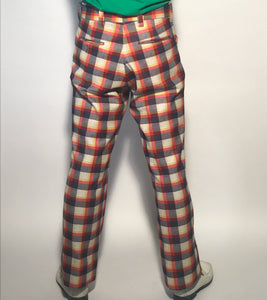"Late 1960s Vintage Men's Plaid Golf Pants Size 32"" Waist"