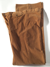 "1970s Men's Tall Vintage Pierre Cardin Corduroy Tan Flare Pants 33"" x 35"""