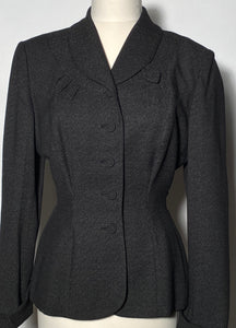 Rose Marie Early 1950s Black 2 Piece Womens Skirt & Jacket