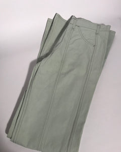 "Deadstock Vintage 1970s Levis Light Green Bellbottom Jeans Extra Tall 34"" x 38"""