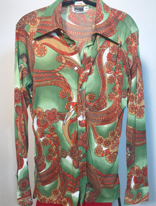 1970s Men's Disco Shirt Size Medium By Mr Jeff