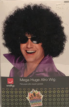 Smiffys Mega Huge Afro - Black Wig Halloween Disco Costume New In Box