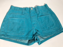 1970's Vintage Wrangle Turquoise Blue Junior Hot Pants