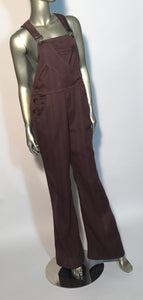 Vintage 1970s Levi's Rust Colored Overall Flares 34x33
