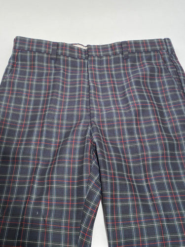 Panatella Levi's Vintage Men's Tall Green Plaid Golf Pants - Plaid 36