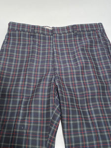 "Panatella Levi's Vintage Men's Tall Green Plaid Golf Pants - Plaid 36"" x 35"""