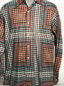 Vintage 1970s Men's Pierre La Grande Disco Shirt Size Large RENTAL