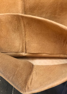 "Mens Brown Suede Leather Rocker Pants 34"" x 29"""