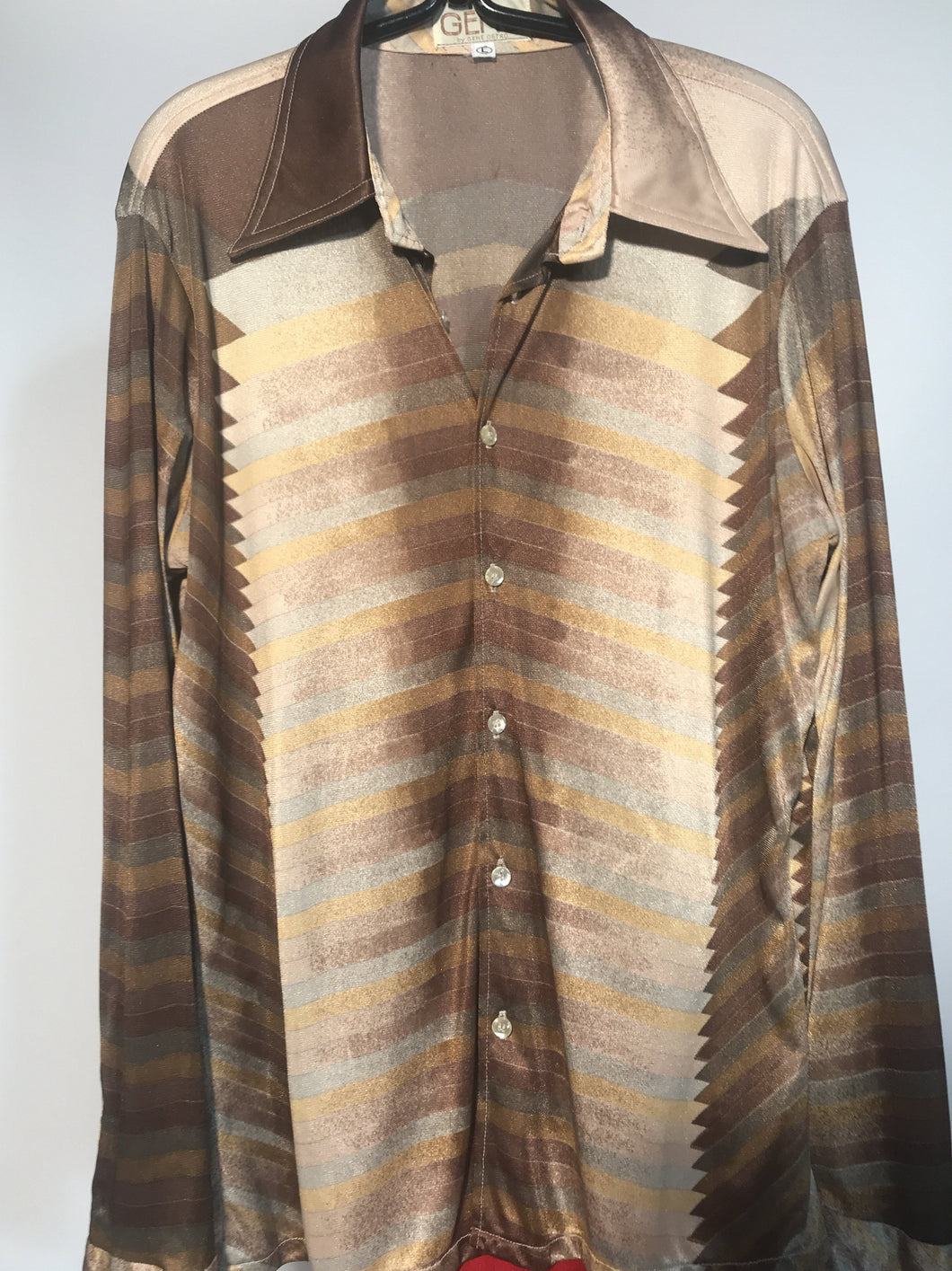 1970s Geno Ostro Men's Disco Shirt Size Large RENTAL L845