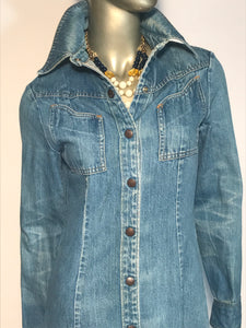 1970s Denim Long Jacket From Landlubber Made In The USA