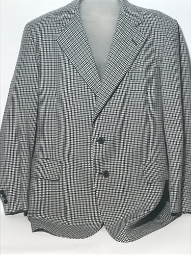 1960s Vintage Men's Checked Jacket Size 44