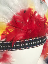 Colorful Full Feathered Halloween Head Dress Costume Indian Headpiece