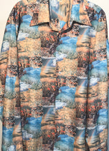 Joe Namath Rainbow Pasture Men's Disco Shirt Size Large RENTAL L953