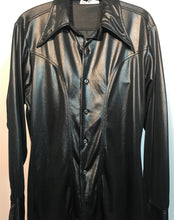Men's 1970s Black Disco Shirt Size Medium Jack McConnell RENTAL